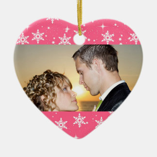 Our First Christmas Wedding Photo Ornament
