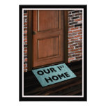 our first home door mat personalized announcements