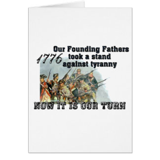 Our Founding Fathers against tyranny Card