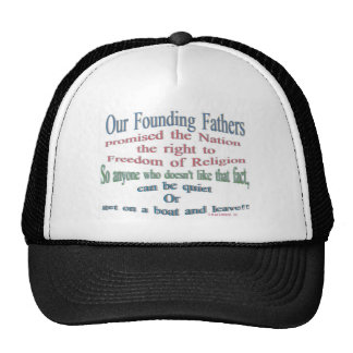 Our founding fathers trucker hats