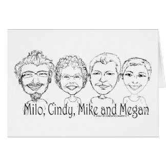 Our Four Mugs Greeting Card