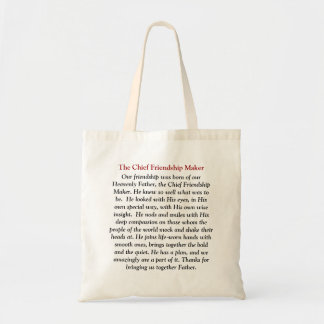 Our friendship was born of our Heavenly Father,... Canvas Bags