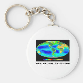 Our Global Biosphere (Global Photosynthesis) Basic Round Button Key Ring