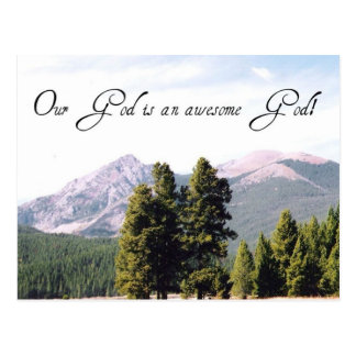 Our God is an awesome God! Postcard