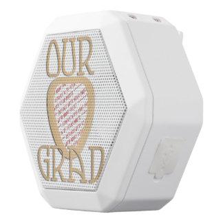 OUR GRAD - Gold Graduation Photo Frame White Boombot Rex Bluetooth Speaker