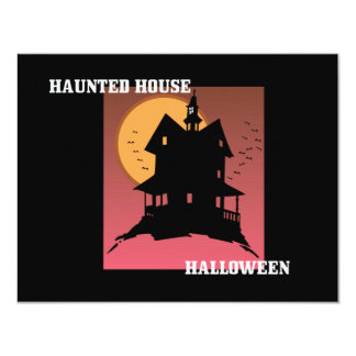 "Our Haunted House Halloween Party Invitation 4.25"" X 5.5"" Invitation Card"