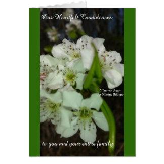 Our Heartfelt Condolences Card