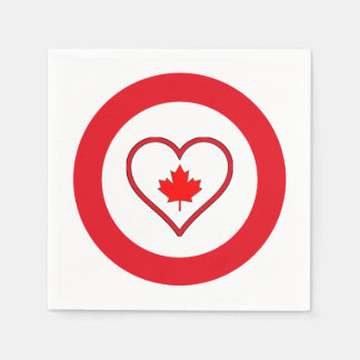 Our Hearts Canada Day Party Paper Napkins