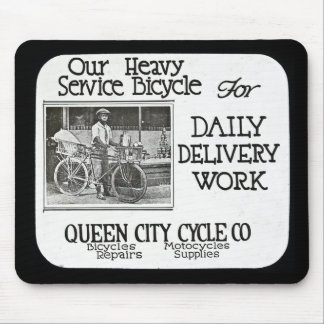 Our Heavy Service Bicycle - Vintage Americana Mouse Pad