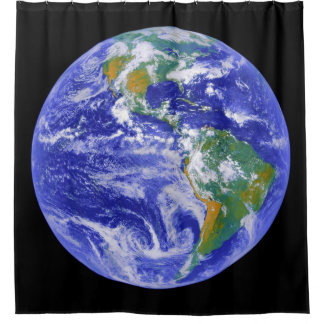 Our Home - The Earth Shower Curtain