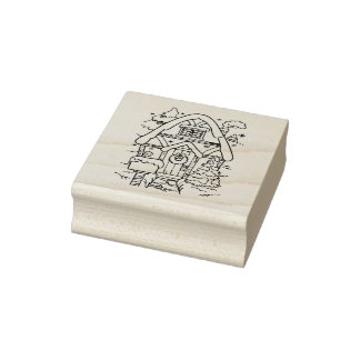 Our House Christmas Rubber Stamp