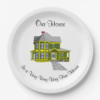 Our House Personalized Paper Plate