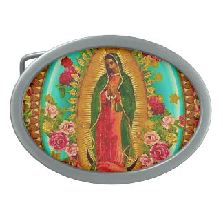 Our Lady Guadalupe Mexican Saint Virgin Mary Belt Buckle