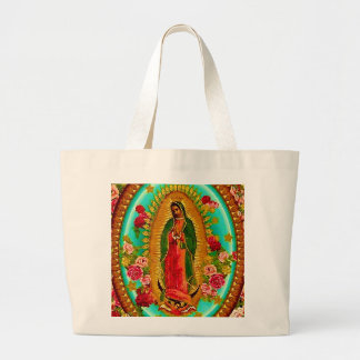 Our Lady Guadalupe Mexican Saint Virgin Mary Large Tote Bag
