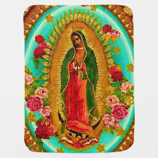 Our Lady Guadalupe Mexican Saint Virgin Mary Pramblanket