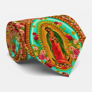 Our Lady Guadalupe Mexican Saint Virgin Mary Tie