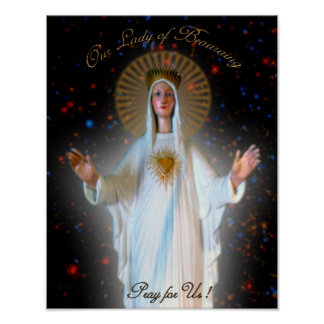 Our Lady of Beauraing Poster
