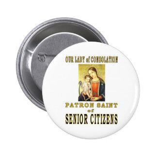 OUR LADY of CONSOLATION 6 Cm Round Badge