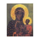 Our Lady of Czestochowa Black Virgin Mary Wood Art
