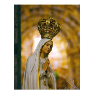 Our Lady of Fatima 21.5 Cm X 28 Cm Flyer