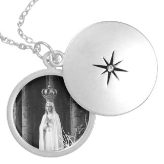 Our Lady of Fatima Locket Necklace