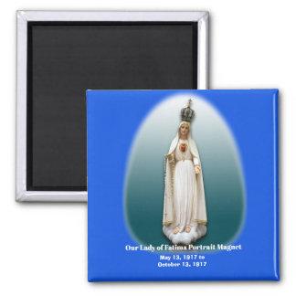 Our Lady of Fatima Portrait Magnt Magnet