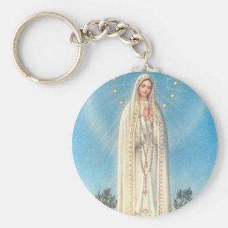 Our Lady of Fatima Rosary Basic Round Button Key Ring
