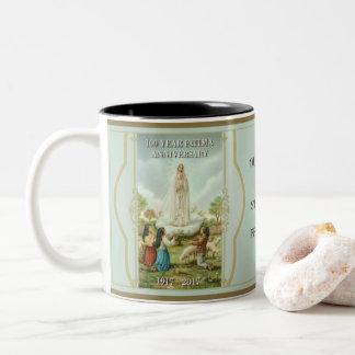 Our Lady of Fatima & St. Martha Two-Tone Coffee Mug