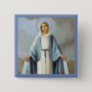 Our Lady of Grace Virgin Mary 15 Cm Square Badge