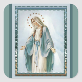 Our Lady of Grace Virgin Mary Square Sticker
