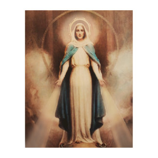 Our Lady of Grace Wood Wall Art