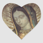 OUR LADY OF GUADALUPE HEART STICKERS