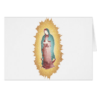 Our Lady Of Guadalupe Mosaic Design Card