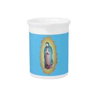 Our Lady Of Guadalupe Mosaic Design Pitcher