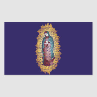 Our Lady Of Guadalupe Mosaic Design Rectangular Sticker