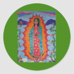 Our Lady of Guadalupe Round Stickers