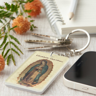 Our Lady of Guadalupe Saint of Americas Single-Sided Rectangular Acrylic Key Ring