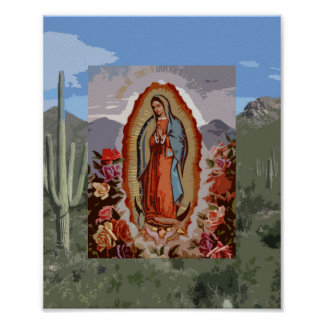 Our Lady of Guadalupe Sonoran Poster