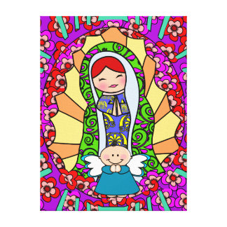 Our Lady Of Guadalupe,VIRGIN OF GUADALUPE Gallery Wrapped Canvas