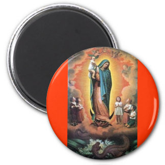 OUR LADY OF GUADALUPE VIRGIN TRADITIONAL CATHOLIC 6 CM ROUND MAGNET