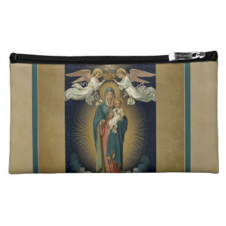 Our Lady of Guadalupe w.angels & H. Spirit Cosmetics Bags