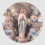 Our Lady of Lourdes Round Stickers
