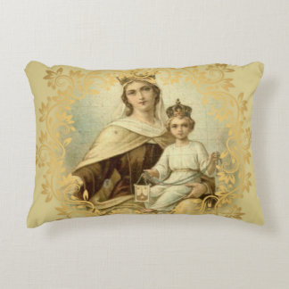 Our Lady of Mount Carmel Baby Jesus Scapular Decorative Cushion