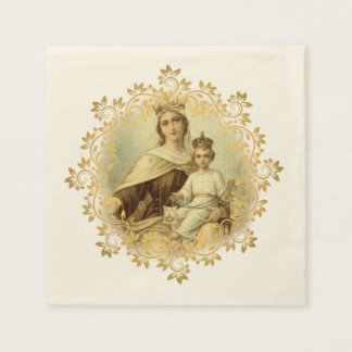 Our Lady of Mount Carmel Baby Jesus Scapular Disposable Serviette