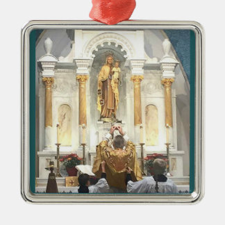 Our Lady of Mount Carmel Traditional Latin Mass Metal Ornament