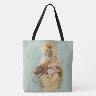 Our Lady of Mount Carmel with the Baby Jesus Tote Bag