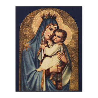 OUR LADY OF MOUNT CARMEL WOOD CANVAS
