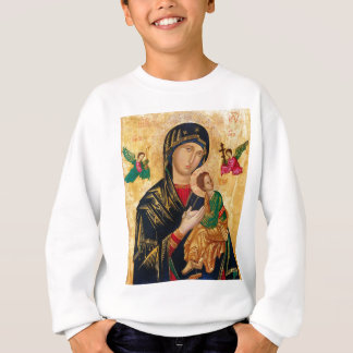 Our Lady of Perpetual Help Icon Virgin Mary Art Sweatshirt