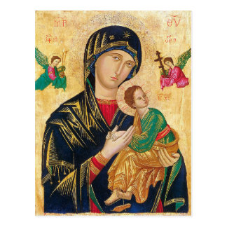 Our Lady of Perpetual Help Prayer Card Postcard
