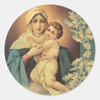 Our Lady of Schoenstatt Virgin Mary Jesus Round Sticker